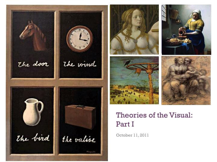 theories of the visual part i n.