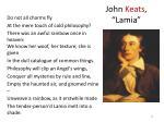 john keats lamia