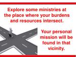 your personal mission will be found in that vicinity
