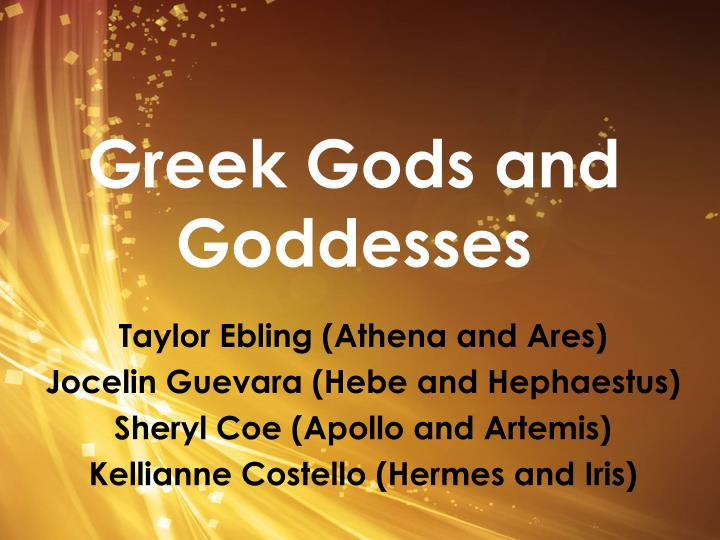 Ppt Greek Gods And Goddesses Powerpoint Presentation Free