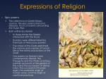 expressions of religion