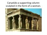 caryatids a supporting column sculpted in the form of a woman