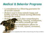 medical behavior programs