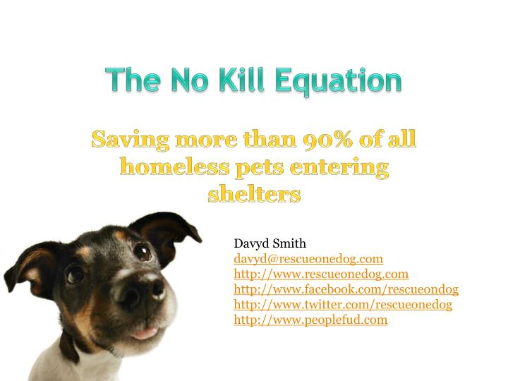 the no kill equation n.