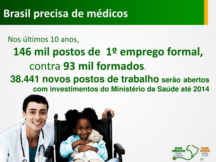 Brasil precisa de médicos