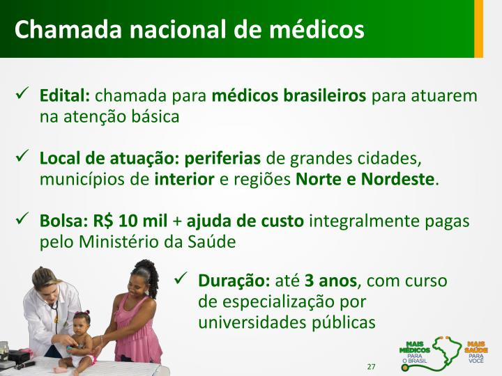Chamada nacional de médicos