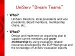 uniserv dream teams