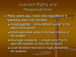 learners rights and responsibilities