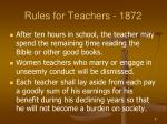 rules for teachers 18721
