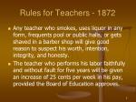 rules for teachers 18722