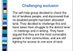 challenging exclusion