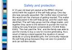 safety and protection