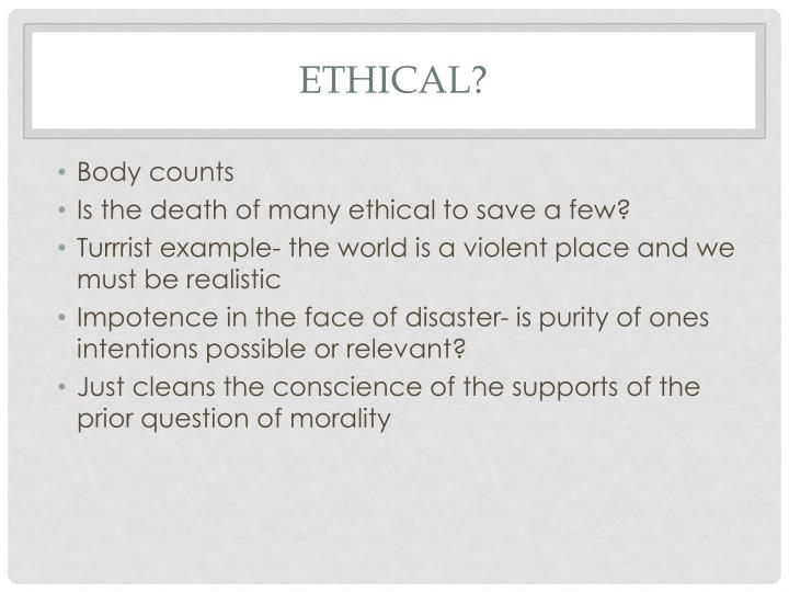 Ethical?