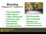 bicycling employees 2 students 4