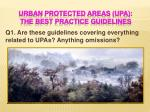 urban protected areas upa the best practice guidelines1