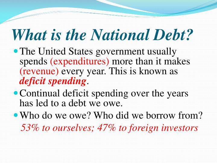 what is the national d ebt n.