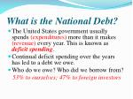 what is the national d ebt