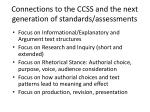 connections to the ccss and the next generation of standards assessments