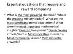 essential questions that require and reward comparing