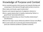 knowledge of purpose and context