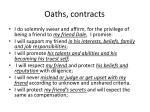 oaths contracts