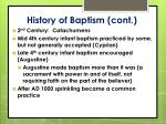 history of baptism cont
