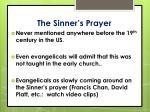 the sinner s prayer