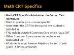math crt specifics1