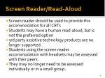 screen reader read aloud