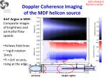 doppler coherence imaging of the mdf helicon source