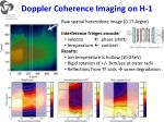 doppler coherence imaging on h 1