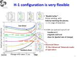 h 1 configuration is very flexible
