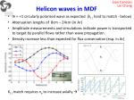 helicon waves in mdf