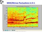 mhd mirnov fluctuations in h 1