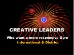 creative leaders
