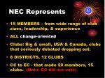 nec represents