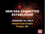 new era committee established