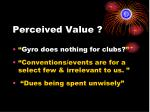 perceived value
