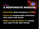 section 1 a responsive mission