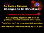 section 4 an onging dialogue changes to gi structure