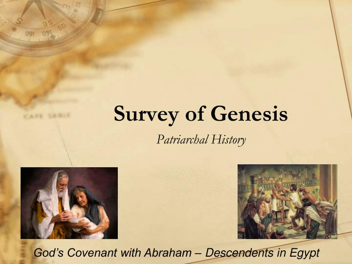 survey of genesis n.