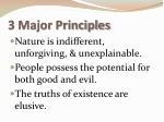3 major principles