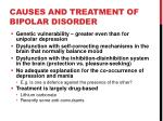 causes and treatment of bipolar disorder