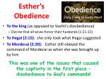 esther s obedience
