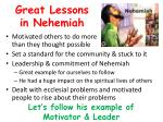 great lessons in nehemiah