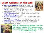 great workers on the wall