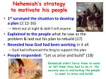 nehemiah s strategy to motivate his people