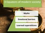 3 equators of modern society