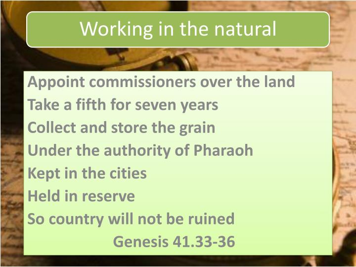 Appoint commissioners over the land