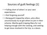 sources of guilt feelings 1